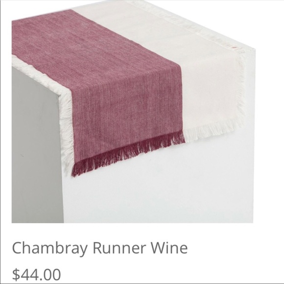 Pehr Cream And Burgundy Table Runner